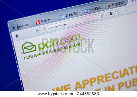 Ryazan, Russia - June 05, 2018: Homepage Of Pch Website On The Display Of Pc, Url - Pch.com