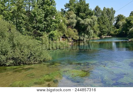 Una River In Bihac. Bosna And Hercegovina.