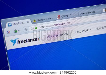 Ryazan, Russia - June 05, 2018: Homepage Of Freelancer Website On The Display Of Pc, Url - Freelance