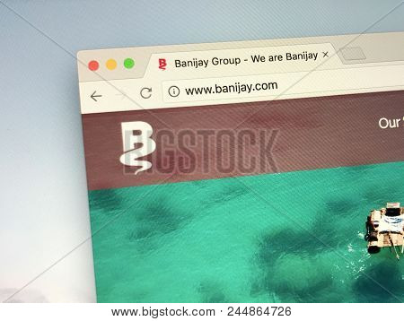 Amsterdam, Netherlands - June 12, 2018: Website Of Banijay Group Is A Global Production And Distribu