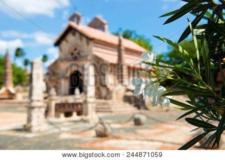 Ancient village Altos de Chavon - Colonial town reconstructed in Dominican Republic. Casa de Campo, La Romana poster