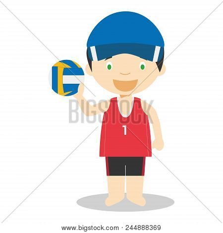 Sports And Competition Cartoon Vector Illustrations: Beach Volley