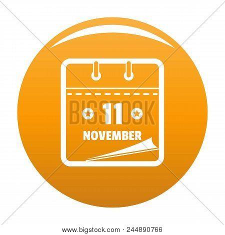 Calendar Eleventh November Icon. Simple Illustration Of Calendar Eleventh November Vector Icon For A