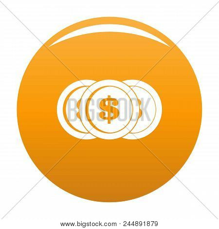 Making Coin Icon. Simple Illustration Of Making Coin Vector Icon For Any Design Orange