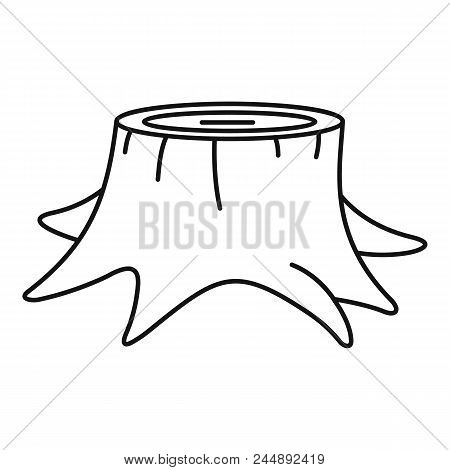 Young Tree Stump Icon. Outline Illustration Of Young Tree Stump Vector Icon For Web Design Isolated