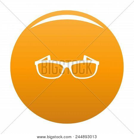 Modern Spectacles Icon. Simple Illustration Of Modern Spectacles Vector Icon For Any Design Orange