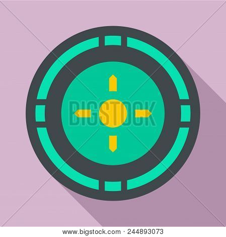 Reticle Target Icon. Flat Illustration Of Reticle Target Vector Icon For Web Design