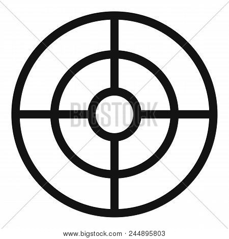 Futuristic aim scope icon. Simple illustration of futuristic aim scope vector icon for web design isolated on white background poster