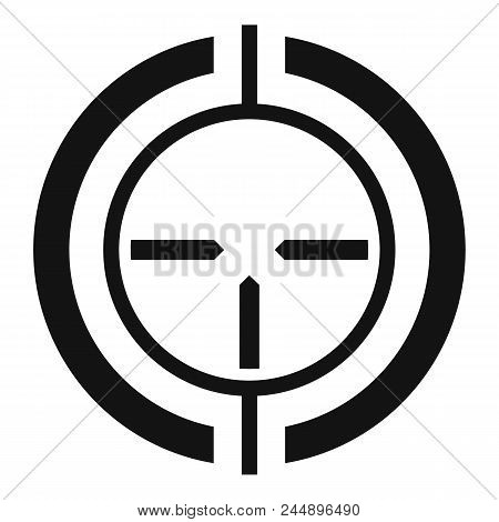 Gun scope aim icon. Simple illustration of gun scope aim vector icon for web design isolated on white background poster