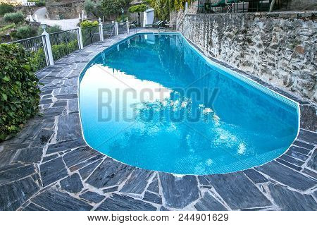 Swimming Pool In A Small Hotel In Portugal.