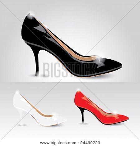 Ladies shoes - vector