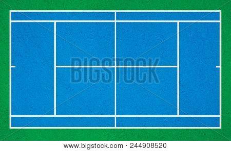 Tennis Court. Tennis Green Grass Court Illustration.