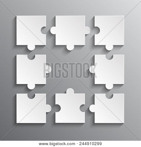 Frame White Puzzle Vector & Photo (Free Trial) | Bigstock
