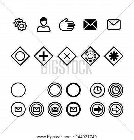 Icons For Business Process Diagrams Flat Vector Illustration. Icons For Notation Bpmn. Concept For A