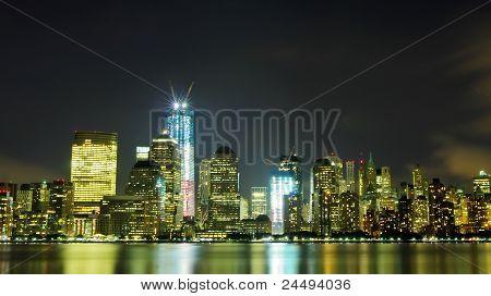 The Lower Manhattan at Night