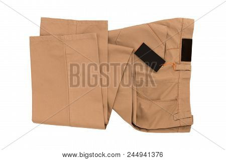 Brown Folded Trousers