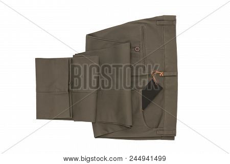 Gray Folded Trousers