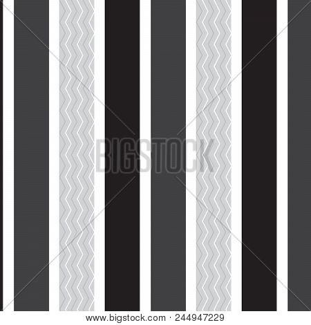 White Silver Chevron Vertical Striped Inside Silver Vertical Striped Pattern White Black Dark Grey B