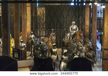 London, Uk - April 2018: Collections Of The Royal Armouries Including Historic Arms And Armours Of P