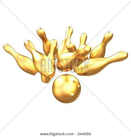 Vergoldete Bowling