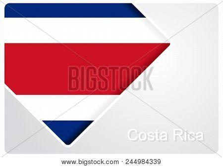 Costa Rican Flag Design Background Layout. Vector Illustration.