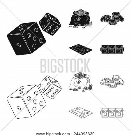 Excitement, Recreation, Hobby And Other  Icon In Black, Outline Style.casino, Institution, Entertain