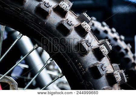 Motocross Tire, Motocross Tire In The Wheel.
