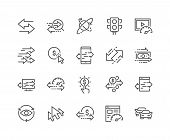 Simple Set of Traffic Related Vector Line Icons. Contains such Icons as Pay per Click, Monetize, Traffic Speed and more. Editable Stroke. 48x48 Pixel Perfect. poster