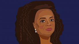 8 June, 2018: Vector Portrait Of Famous Tv Host And Successful Business Woman Oprah Winfrey.