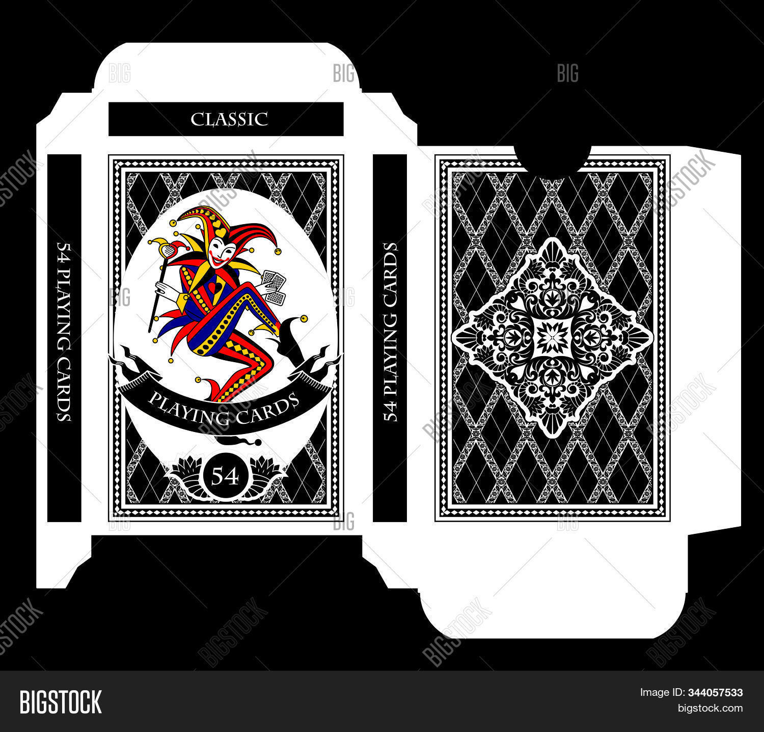 Playing Card Box Template from static1.bigstockphoto.com