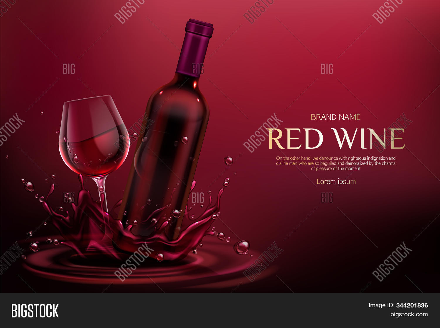 Red Wine Bottle Glass Image Photo Free Trial Bigstock