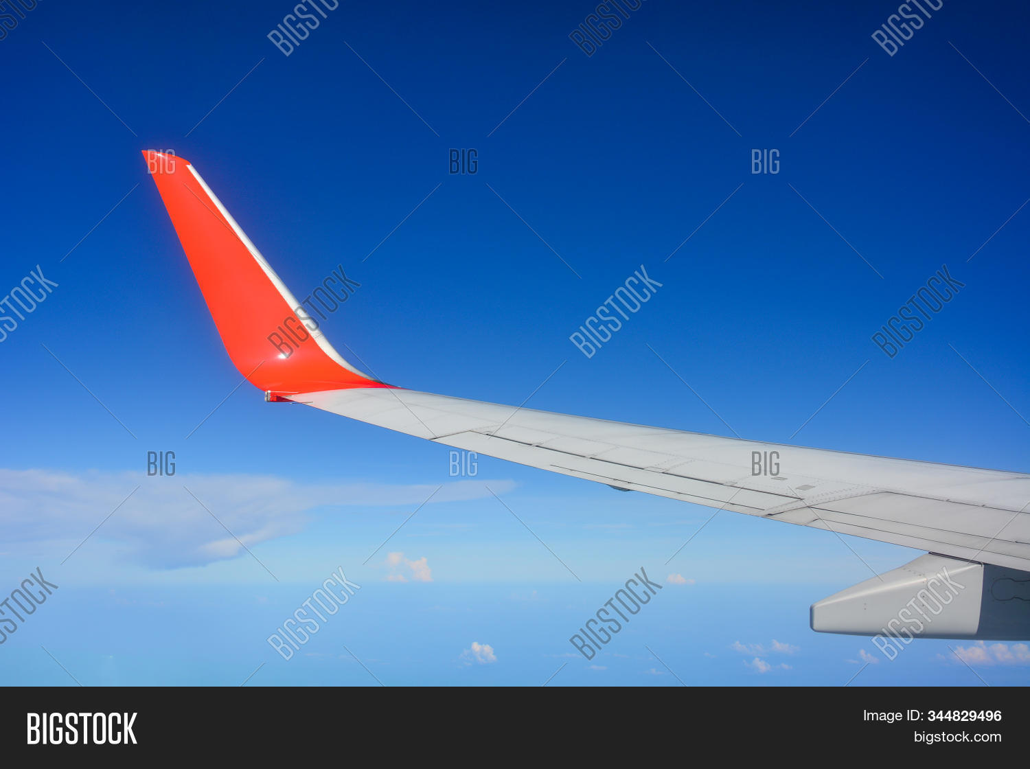 Red Wing Aircraft View Image Photo Free Trial Bigstock