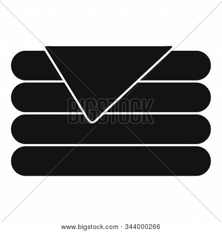 Stack Blanket Icon. Simple Illustration Of Stack Blanket Vector Icon For Web Design Isolated On Whit