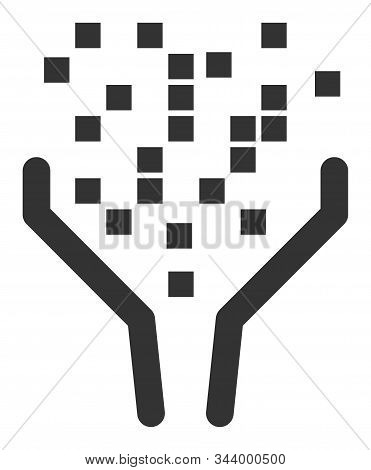 Data Processing Funnel Vector Icon. Flat Data Processing Funnel Symbol Is Isolated On A White Backgr