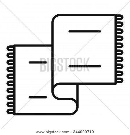 Long Blanket Icon. Outline Long Blanket Vector Icon For Web Design Isolated On White Background