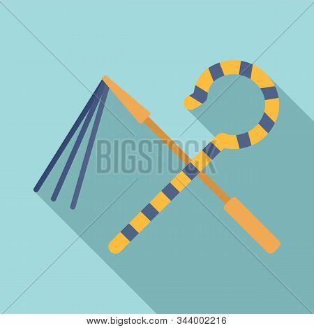 Egypt Pharaoh Tools Icon. Flat Illustration Of Egypt Pharaoh Tools Vector Icon For Web Design