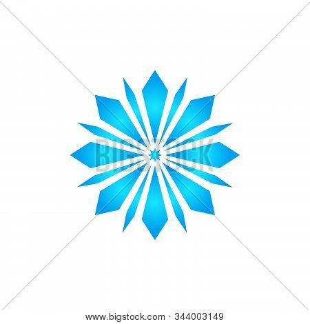 Snow Element. Snow Blue Color. White Background. Snow Vector Collection. Snow Hand Cover For The Des