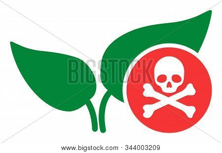 Herbicide Vector Icon. Flat Herbicide Symbol Is Isolated On A White Background.