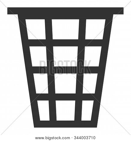 Junk Vector Icon. Flat Junk Pictogram Is Isolated On A White Background.