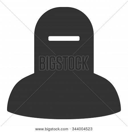 Muslim Hijab Vector Icon. Flat Muslim Hijab Symbol Is Isolated On A White Background.