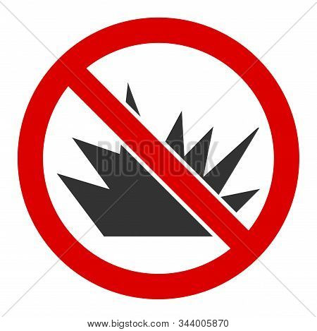 No Bang Vector Icon. Flat No Bang Pictogram Is Isolated On A White Background.
