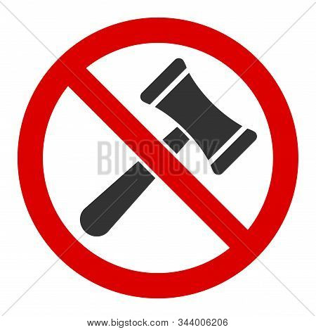 No Bids Vector Icon. Flat No Bids Symbol Is Isolated On A White Background.