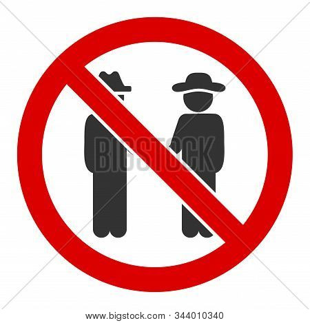 No Gentlemen Vector Icon. Flat No Gentlemen Symbol Is Isolated On A White Background.