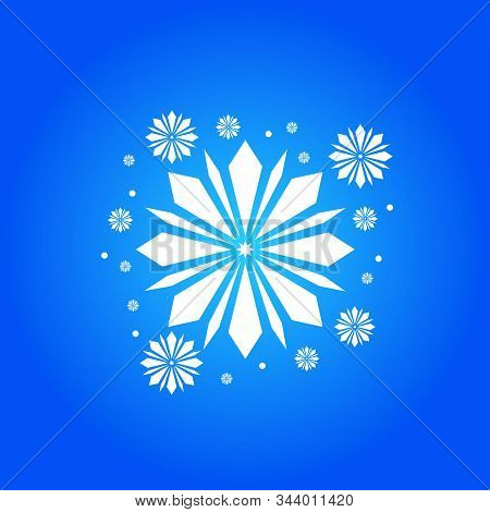 Snow Element. White Snow With A Blue Background. Snow Vector Collection. Snow Hand Cover For The Des