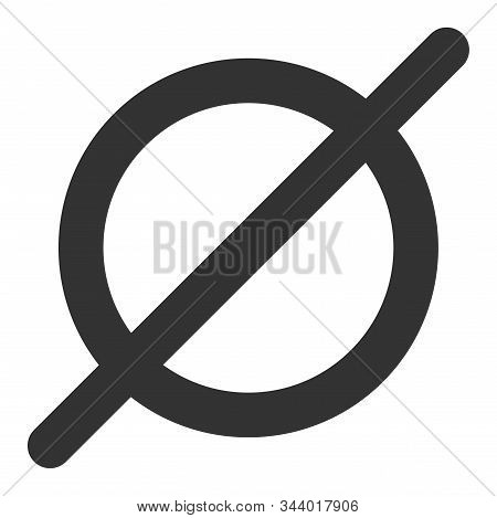 Nothing Vector Icon. Flat Nothing Pictogram Is Isolated On A White Background.