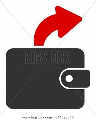 Spend Cash Vector Icon. Flat Spend Cash Pictogram Is Isolated On A White Background.