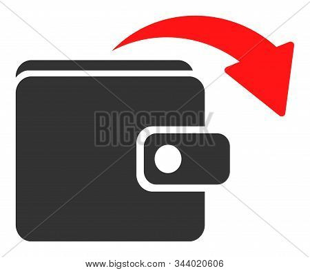 Spend Money Vector Icon. Flat Spend Money Pictogram Is Isolated On A White Background.