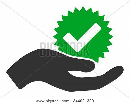 True Bonus Vector Icon. Flat True Bonus Pictogram Is Isolated On A White Background.