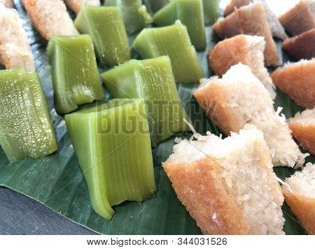 Kind Of Thai Sweetmeat Multi Layer Sweet Cake (kanom Chan)