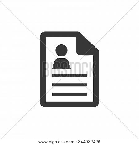 Text-lines Document Icon - Text-lines Document Isolated, Personal Information Illustration - Vector